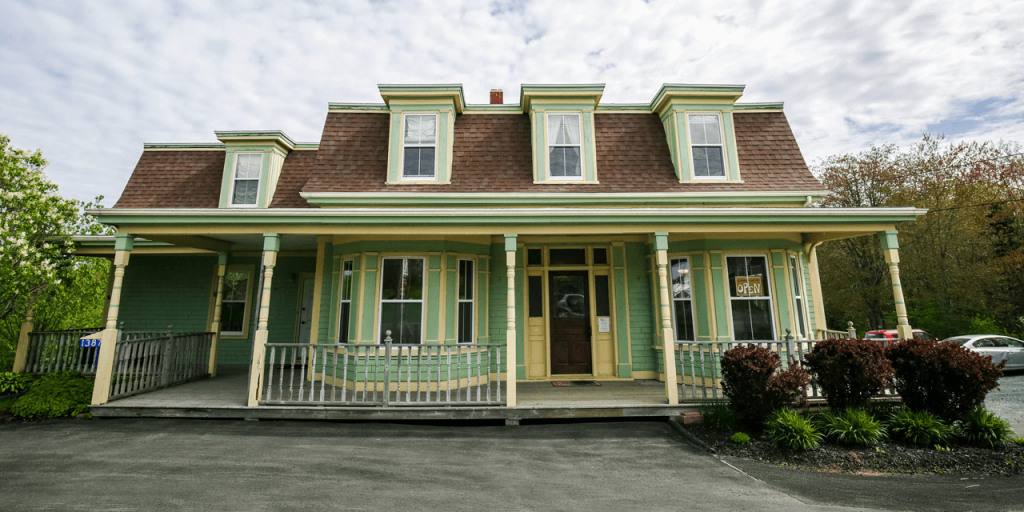 Photo of The Lifehouse building, which is a green heritage house on Hammonds Plains Road, Nova Scotia.
